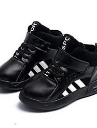 Boy's Athletic Shoes Comfort Microfibre Casual Black Brown Silver