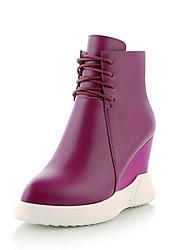 Черный / Фиолетовый-Женский-Для прогулок-ПолиуретанOthers-Ботинки