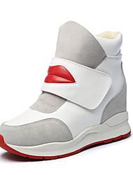 Homme-Décontracté / Sport-Noir / Blanc-Plateforme-Confort-Sneakers-Polyuréthane