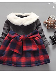 Girl's Casual/Daily Plaid Dress,Cotton Winter / Fall Long Sleeve