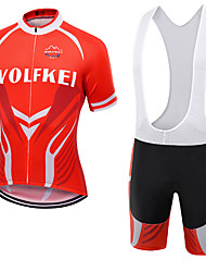 WOLFKEI Summer Cycling Jersey Short Sleeves BIB Shorts Ropa Ciclismo Cycling Clothing Suits #22