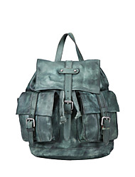 Unisex Cowhide Sports / Casual / Outdoor / Shopping Backpack