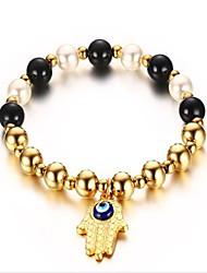 Bracelet Bracelet Perle / Acier inoxydable / Plaqué or Anniversaire / Fiançailles / Mariage / Soirée / Quotidien / Décontracté Bijoux