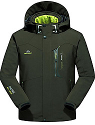 Hiking Softshell Jacket / Windbreakers / Tops Men's Waterproof / Thermal / Warm / Windproof Spring / Fall/Autumn / Winter PolyesterXL /