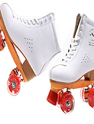 Roller Skates Unisex Anti-Slip Wearproof Indoor Outdoor Practise Classic Real Leather Rubber Leisure Sports Roller Skating