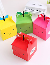 Random Color estilo 5 unids diy de dibujos animados de navidad ao nuevo caja de regalo caramelo lindo cajas de torta la vspera de navidad de apple