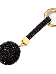 Key Chain Leisure Hobby Key Chain / Diamond / Gleam Circular Metal Black For Boys / For Girls