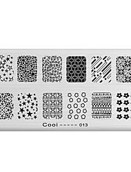nail art timbro immagine che timbra il piatto modello di serie di fresco