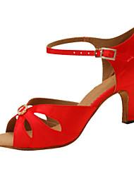 Sapatos de Dança(Vermelho) -Feminino-Personalizável-Latina / Jazz / Salsa / Sapatos de Swing