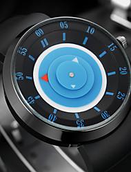 Мужской Модные часы Наручные часы Уникальный творческий часы Цветной Кварцевый силиконовый Группа Винтаж Cool Повседневная Черный
