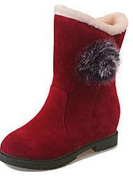 Women's Boots Winter Comfort Suede Slip Resistant All Match Fashion Dress / Casual Low Heel Pom-pom