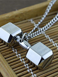Men's Pendant Necklaces Titanium Steel Dangling Style USA Silver Jewelry Party Daily Casual 1pc