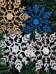 4pcs Weihnachtsdekorationen Weihnachten Schneeflocke Pulver 10 * 6.5cm Farbe zufällig