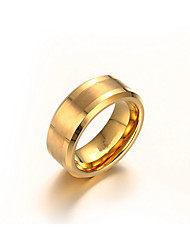 Ring Non Stone Daily / Casual Jewelry Tungsten Steel Men Ring / Band Rings 1pc,7 / 8 / 9 / 10 / 11 / 12 Gold