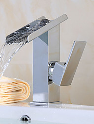Waschbecken Wasserhahn in einem modernen Stil Hahn einzigen Handgriff Wasserfall Waschbecken