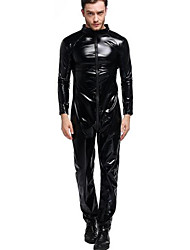 Men's Full Sleeve Faux Long Tall Catsut Jumpsuit Cross Crotch Plus XXXL