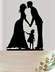 Europe and the United States hot style yakeli the bride and groom wedding cake inserted exquisite decoration