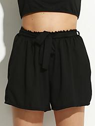 Pantalon Aux femmes Short simple Nylon Non Elastique