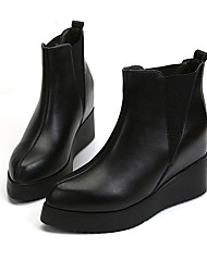 Women's Boots Winter Increased Within Flange Platform / Comfort Leatherette Dress / Casual Platform Gore Black