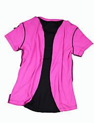 Laufen T-shirt Damen Kurze Ärmel Atmungsaktiv Elastan Laufen Sportbekleidung Schlank Outdoor Kleidung / Freizeit Sport einfarbig S / M / L