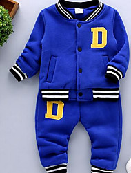 Boy Casual/Daily Print Sets,Cotton Winter / Fall Clothing Set
