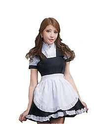 Cosplay Costumes Party Costume Maid Costumes Career Costumes Festival/Holiday Halloween Costumes Solid Skirt More AccessoriesHalloween