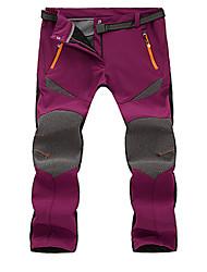 Femme Pantalons à Coquille Souple Etanche Garder au chaud Pare-vent Respirable Collants pour Camping / Randonnée Exercice & Fitness Sport