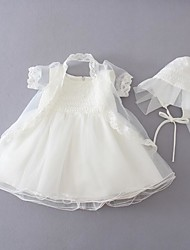Baby Casual/Daily / Formal Solid Dress,Polyester All Seasons White