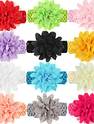 12Pcs/set Baby Girls Chiffon Flower Headband Todder Hair Accessories Infant Hairband