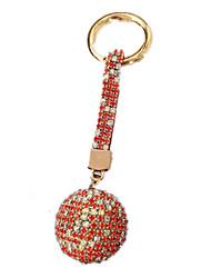 Schlüsselanhänger Freizeit Hobbys Schlüsselanhänger / Diamant / Glänzen Cyan / Rot Für Jungen / Für Mädchen