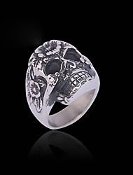 Ringe Normal / Sport Schmuck Titanstahl Herren Ring 1 Stück,Eine Größe Silber