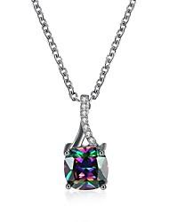 Necklace Jewelry Wedding / Party / Daily / Casual Unique Design / Dangling Style / Rhinestone / Circle / Euramerican Zircon / Copper Women