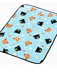 Dog Bed Pet Blankets Blue / Pink Plush