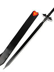 Оружие Вдохновлен Sword Art Online Kirito Аниме Косплэй аксессуары Оружие Черный Дерево Мужской