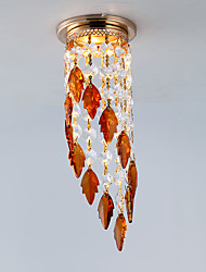 Mini Modern Leaf Crystal Downlight Fixture for Hallway