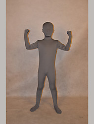 Festival/Holiday Costumes Deep Grey Solid Zentai Kid Lycra Fully Covered