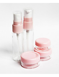 Cosmetic Bottle Plastic 5 Others 10*14*3.2cm Set Nude