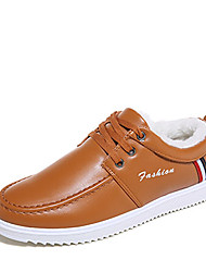 Masculino-Oxfords-ConfortoPreto / Branco / Caqui-Courino-Casual