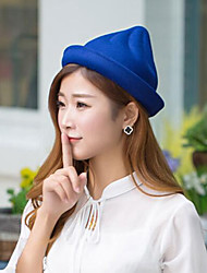 Women Wool Bucket Hat,Casual Fall / Winter