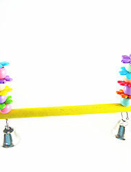 Multi-Color Portable Wood Metal Acrylic Perches & Ladders 1pc