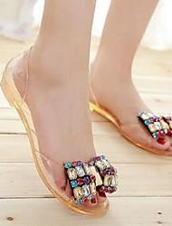 Women's Sandals Jelly PVC Casual Black / Orange