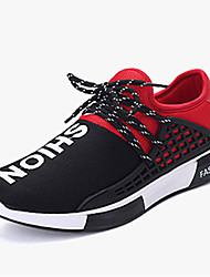 Men's Athletic Shoes Spring Summer Fall Winter Comfort PU Casual Athletic Flat Heel Lace-up Blue Red