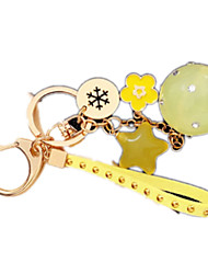 Key Chain Square Circular Metal Boys' Girls'