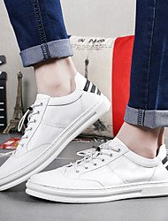 Men's Sneakers Comfort Cowhide Casual Black White