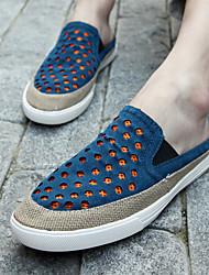 Herren-Loafers & Slip-Ons-Lässig-LederKomfort-Blau / Grün / Orange