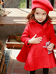 Girl Casual/Daily / Sports Solid Down & Cotton Padded,Polyester Winter / Fall Long Sleeve