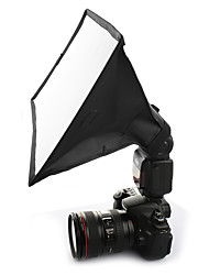 sidande 20 * 30cm photographie mini-diffuseur de flash kit softbox portable pour canon / nikon / samsung dslr