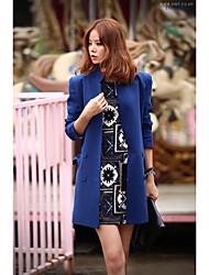 2016 version coréenne de la mode simple sauvage mince long paragraphe veste de costume féminin