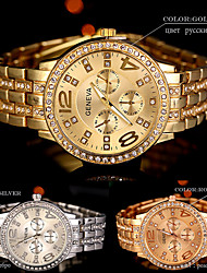 New hot Arrival Quartz Gold Women Men Watch Luxury Diamond Stainless Steel Ladies Male Geneva Wristwatch Montre Homme Femme