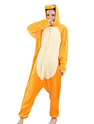 Kigurumi Пижамы Дракон Фестиваль / праздник Нижнее и ночное белье животных Halloween желтый Пэчворк Velvet норки Кигуруми Для